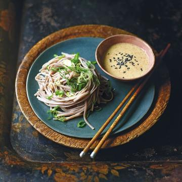 Soba noodles with gomadare sesame seed sauce