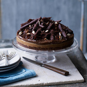 Chocolate & nut butter tart
