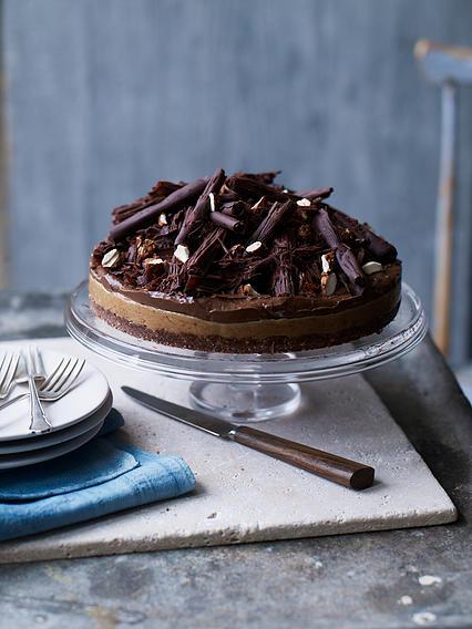 Chocolate & nut butter tart