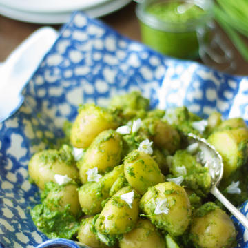 Wild Garlic Pesto New Potatoes