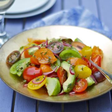 Heritage tomato & avocado salad