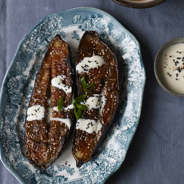 Nasu dengaku – miso charred aubergine