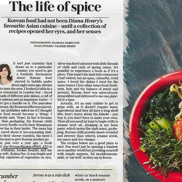 The Telegraph – Diana Henry – Our Korean Kitchen
